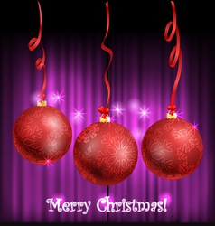 Christmas balls with ornament vector