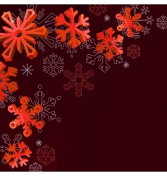Christmas elegant red background vector image