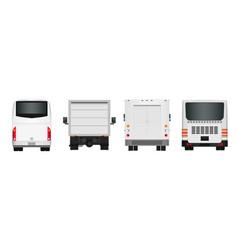 City bus template passenger transport vector