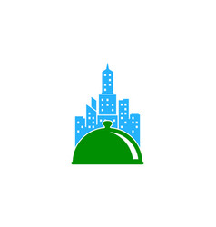 city food logo icon design vector image