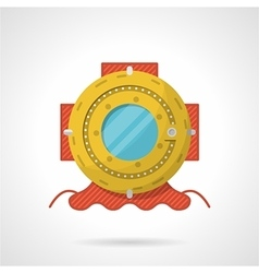 Colored flat icon for scuba helmet vector