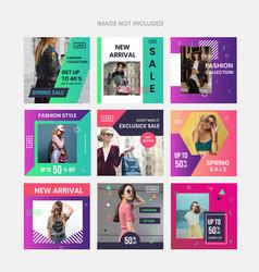 Colorful social media marketing vector