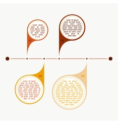 Colorful timeline info graph vector