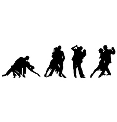 couple dancing tango vector image
