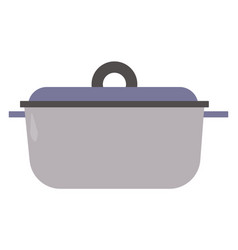 Crock pot on white background vector
