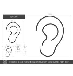 Ear line icon vector image