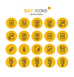 easy icons 16c docs vector image