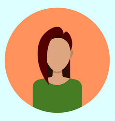 Female avatar profile icon round woman face vector