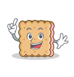 Finger biscuit cartoon character style vector