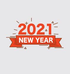 Flat design 2021 happy new year vector