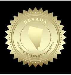 Gold star label Nevada vector