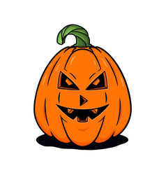 Halloween pumpkin with sinister smiling concept vector