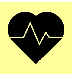 Heartbeat sign Flat style icon vector image