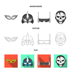 hero and mask symbol vector image