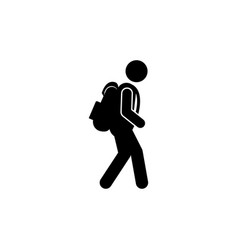 hiking icon design template isolated vector image