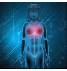 Human Breast vector
