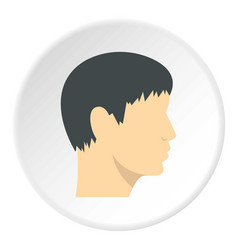 human head side view icon circle vector image