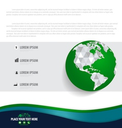 Infographics design template with modern globe vector image