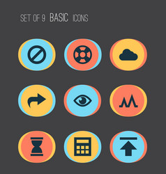 interface icons set collection of lifebuoy vector image