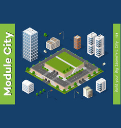 Isometric urban architecture vector