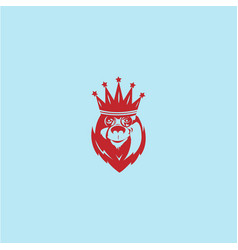 king bear logo vector image