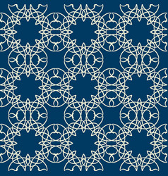 lace seamless pattern with intricate ornament vector image