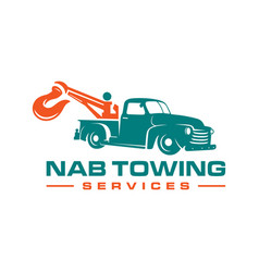 Logo design tow truck services vector