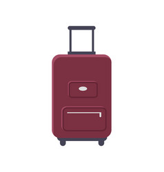 luggage standing isolated vector image