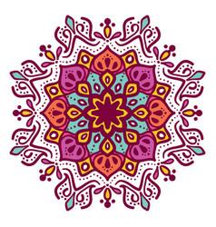 mandala floral vector image