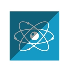 Molecule atom isolated icon vector