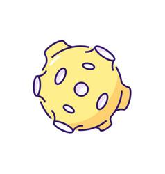 Moon rgb color icon vector