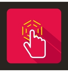 Mouse cursor hand icon flat style vector