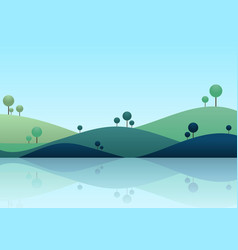 Nature landscape background mountain scenery vector