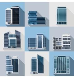 Office Buildings Set vector