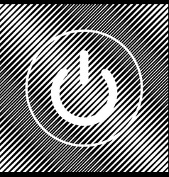 On off switch sign icon hole in moire vector