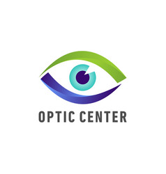 Optic medical eye logo vector