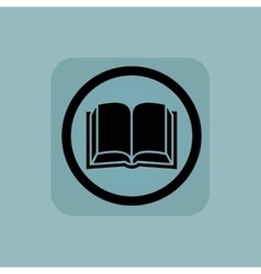 Pale blue book sign vector