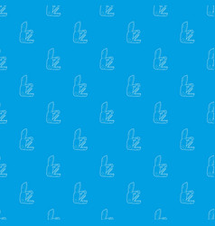Penknife pattern seamless blue vector