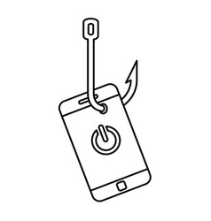 phishing smartphone icon outline style vector image