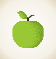 Pixel Apple3 vector image vector image