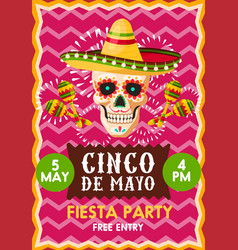 Poster for cinco party vector