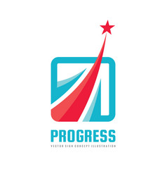 progress - abstract logo design elements vector image