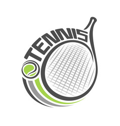 Racket of lawn tennis vector