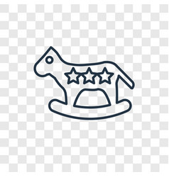 Rocking horse toy concept linear icon isolated on vector