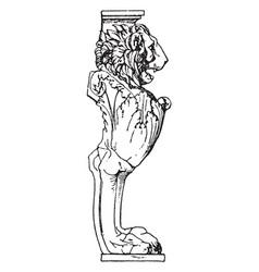 Roman table support trapezophoron griffins vector