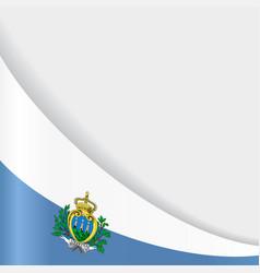 san marino flag background vector image