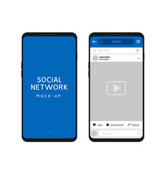 social network template social frame post vector image