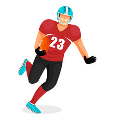 sportsman isolated playing american football vector image