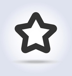 star shape icon in flat design vector image