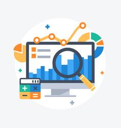 statistics and data analysis vector image